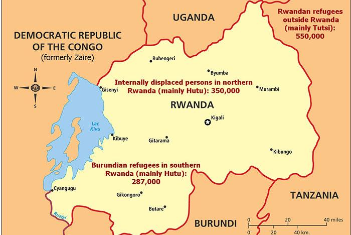 Rwanda Refugee Map